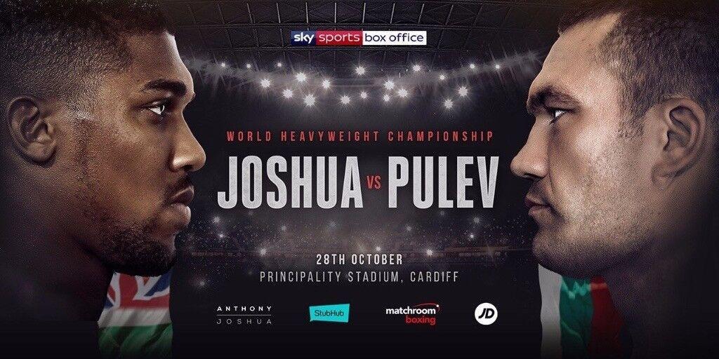 2 X VIP ringside tickets for Joshua Vs Pulev