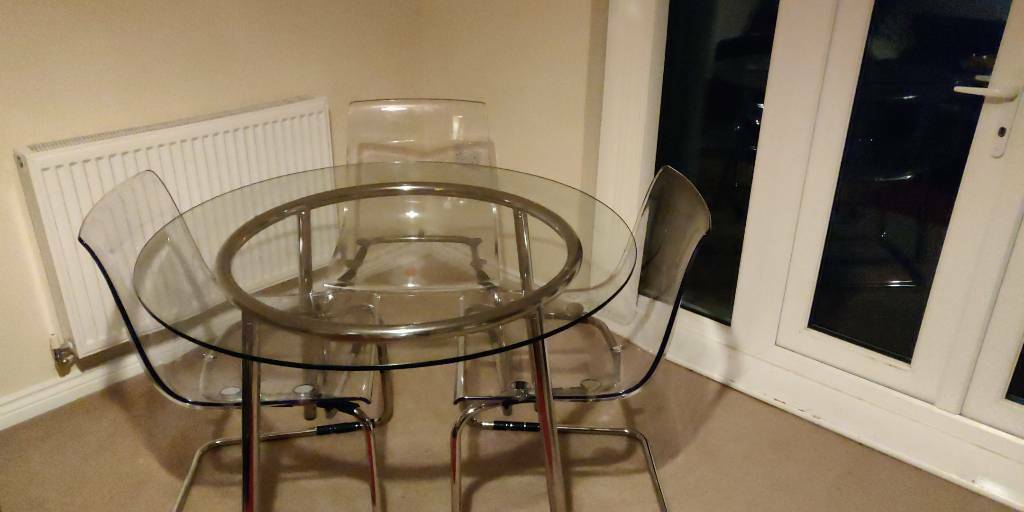 check out f56e7 38f49 Ikea Salmi Table + 3 Tobias Chairs | in Southampton, Hampshire | Gumtree