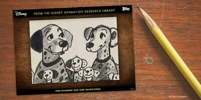 Topps Disney Collect Animation Research Library 101 Dalmations 9 Cards