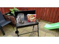 BBQ - Charcoal Barbeque Set. With Chimney Starter
