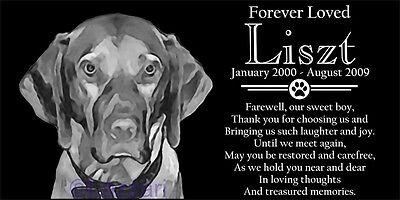 Personalized Vizsla Dog Pet Memorial 12x6 Granite Headstone Grave Marker Stone