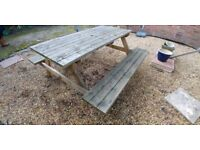 6 Seater 'A' Frame Picnic Table, Natural Pine