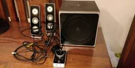 Logitech speakers and subwoofer