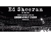 2 x Ed Sheeran Tickets - Wembley Stadium - Saturday 16th June 2018 - Standing/Unreserved Seating