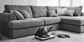 Next stratus corner sofa right hand black eccles fabric Cost £1550 new