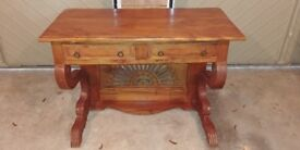 Solid wood beautiful dressing table with two drawers