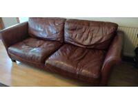 brown leather sofa - free