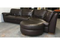 DFS brown leather corner sofa WE DELIVER UK WIDE