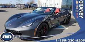 2017 Chevrolet Corvette Grand Sport 1LT CUIR ROUGE CONVERTIBLE!!