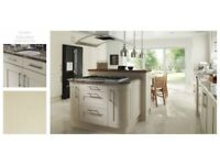 Classic ivory shaker kitchen £1345. Complete including appliances and worktop.