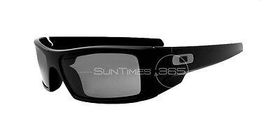 NEW OAKLEY GASCAN SUNGLASSES 03-473 Matte Black Frame  / Gray Lens