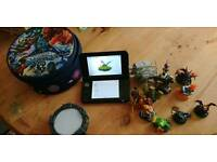 Nintendo 3ds XL console with wireless skylanders pack and case