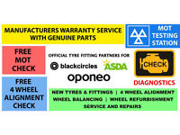 NEW TYRES * MOT £29.99 * RIM REFURBISHMENT
