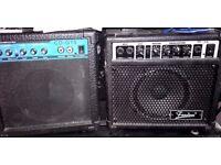 Guitar amplifiers x2