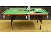 Pool snooker table BCE folding 6ft 3ft