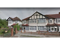 Furnished 3 bed flat on first floor available in Alperton, Housing Benefit and DSS accepted.