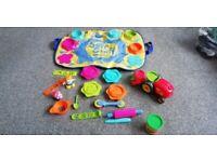 ELC PlayDoh Set - Mat and Various fun toys. Plus 10 x bottles of child-friendly paints