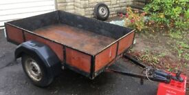 """SMALL TRAILER in good condition. Steel frame and wood. load area approx 5'7""""x 3'10""""x10"""""""