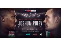 *** Joshua vs Pulev - 28th Oct 17 - 2 tickets - M31 Row 8, Seat 11 & 12 - £300 THE PAIR***