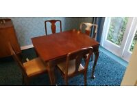 Dark Wood dining table and chair set