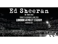 Ed Sheeran - Saturday 16th June 2018 - 2 standing tickets