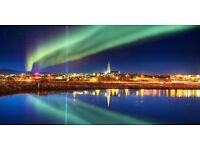 2 return flight tickets London- Reykjavik, 3.Apr-13.Apr