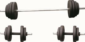 35kg Weight Set, Weight Set Dumbbell Bar & Barbell 6ft :35kg NEW