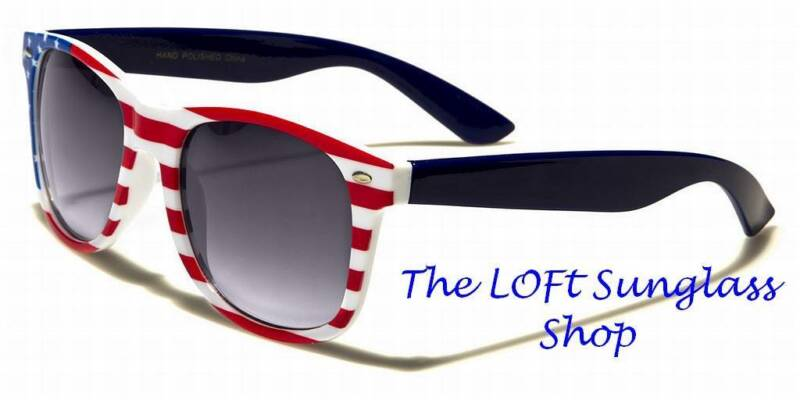 Wayfare Style Red White and Blue USA Stars and Stripes Fun Glasses W-443-flag