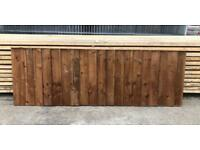 🦔 HEAVY DUTY TANALISED BROWN WOODEN STRAIGHT TOP GARDEN FENCE PANELS