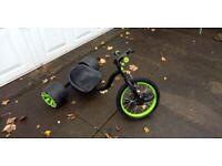 Madd Gear Drift Trike Green Black