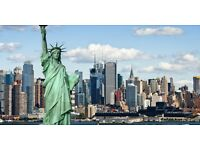 2x Return flights to New York/Newburgh-Stewart for July 2017 with Bag