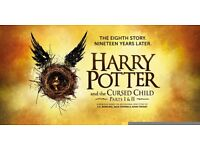 3 x Harry Potter & The Cursed Child Tickets 19th July 2017 Part 1 & 2 Dress Circle Row A