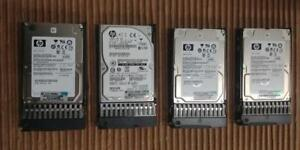 "4 x HP 146GB 6G SAS 15K DP 2.5"" HDD 512544-003 518216-002 507129-010"