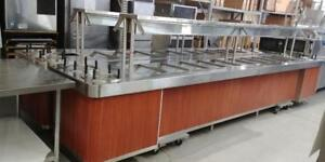 USED 16 FT AND 12 FT BUFFET STYLE HOT TABLES