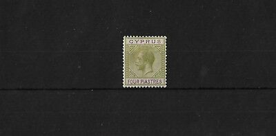 CYPRUS SG95, 4pi SCRIPT CA LIGHTLY MOUNTED MINT, CAT £18