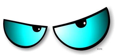 Par de Enojada Evil Eyes Ojos Azul Vinilo Coche Moto Adhesivo para...