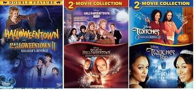 Disney Channel Halloween 6 Movies Twitches 1-2 & Halloweentown 1-4 DVD BRAND