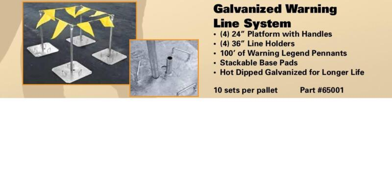 ROOF ZONE™ GALVANIZED WARNING LINE SYSTEM 100
