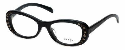 Prada Designer Reading Glasses VPR21R-1AB1O1 in Black (Prada Designer Glasses)