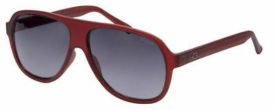 Guess Designer Sunglasses Matte Burgundy Red/Grey Gradient Lens GF5042-70B 57mm Burgundy Gradient Lens