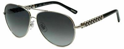 Chopard Designer Sunglasses SCHB66S-579 in Shiny Palladium with Grey Gradient Le