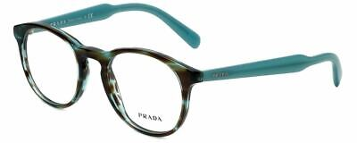Prada Designer Reading Glasses VPR19S-UEN1O1 in Turquoise Havana (Prada Designer Glasses)