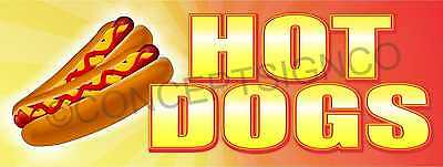1.5x4 Hot Dogs Banner Outdoor Sign Jumbo Beef Franks Chicago Chili Food Cart
