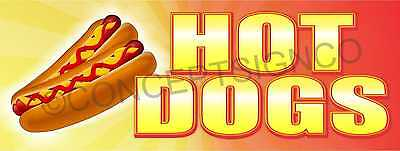 3x8 Hot Dogs Banner Outdoor Sign Large Jumbo Beef Chicago Chili Food Cart