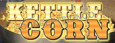 3x8 Kettle Corn Banner Outdoor Sign Large Fair Concession Fresh Sweet Popcorn