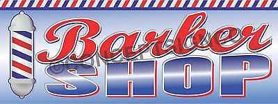 1.5x4 Barber Shop Banner Signs Pole Haircuts Razor Shave Mens Salon Beard Trim