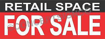 2x5 Retail Space For Sale Banner Outdoor Sign Real Estate Property Commercial