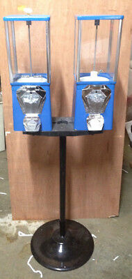 Two-way Oak Vista Candy Toy Gumball Vending Machine With Pipe Stand New Mechs