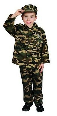 Toddler Holloween Costumes (New 3 Pc  MILITARY ARMY HOLLOWEEN PLAY MAKE BELIEVE KIDS CHILD TODDLER T)