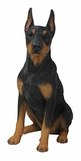 Sitting Doberman Pinscher Dog Statue